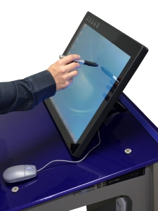interactive pen display for annotation over any file better than smart sympodium easy save and print