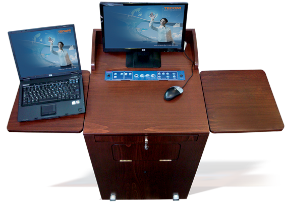 TecPodium wood lectern for presentation lectures training